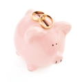 Piggy bank and rings